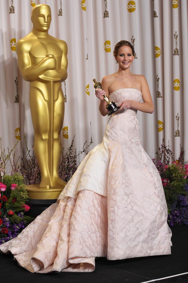 Jennifer Lawrence Raf Simons Para Dior Alta Costura 2013