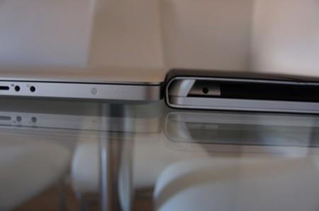 Mayor grosor que un MacBook de 15