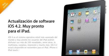 """iOS 4.2, """"más de 100 novedades""""... según la página de Apple"""
