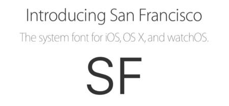 Apple pone a disposición de los desarrolladores la nueva tipografía San Francisco