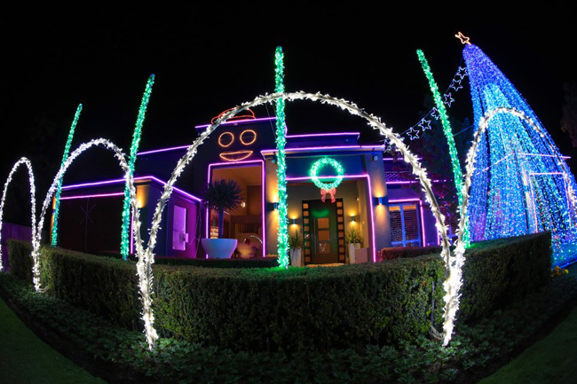 Iluminación de Navidad Gangnam Style