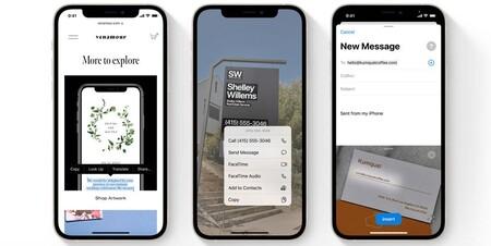 Live Text, la nueva función de iPhone que llegará en otoño nos permitirá extraer los textos de nuestras imágenes