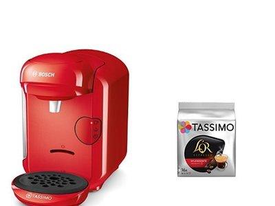 Cafetera Bosch Tassimo Vivy TAS1404 y pack de café, rebajado de 232,82 euros a sólo 62,81 euros y los gastos de envío gratis