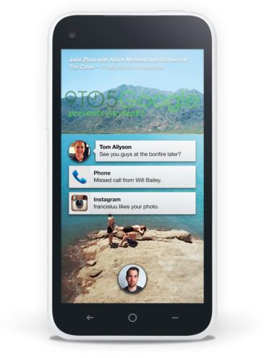 Así se verá Facebook Home en el terminal propio de la red social que lanzará HTC