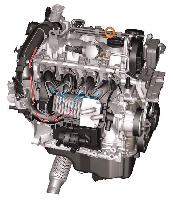 Motor 1.2 TSI con intercooler refrigerado por agua