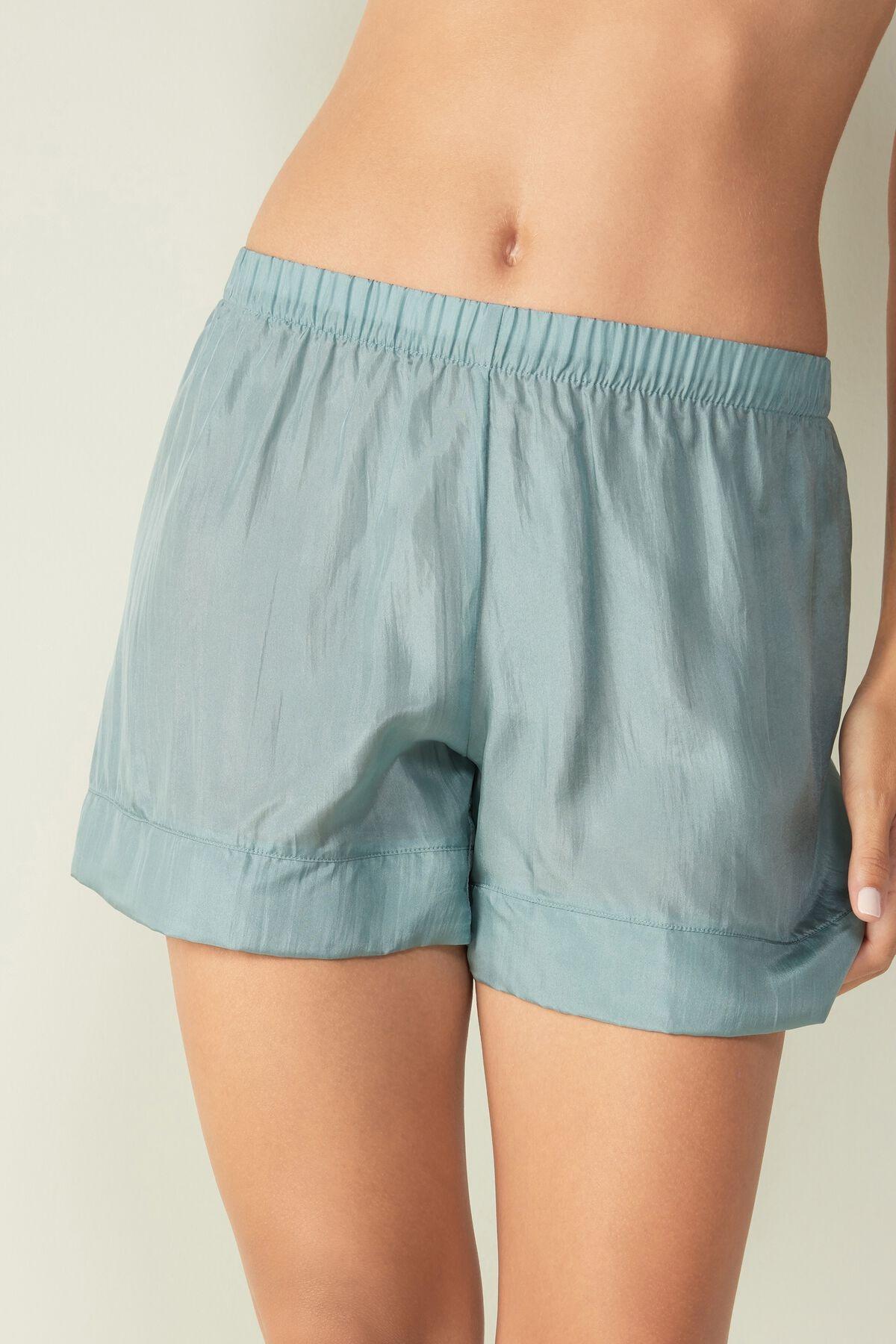 Pantalones cortos de seda