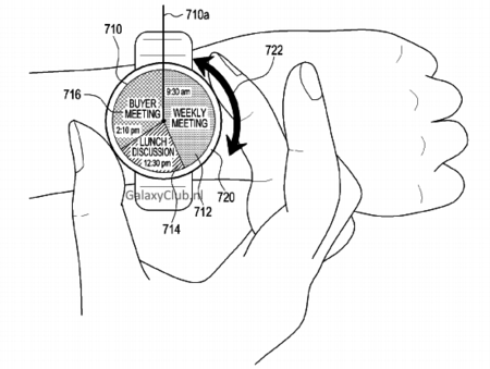 Samsung Patent Interface Round Smartwatch1