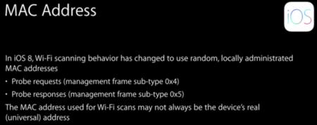 """iOS 8 """"engañará"""" las redes Wi-Fi generando direcciones MAC falsas"""