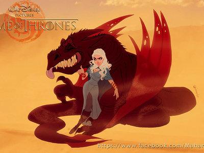 Así sería Juego de Tronos visto a través del filtro Disney