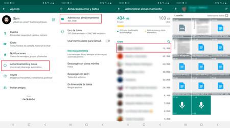 Cómo eliminar archivos antiguos y pesados de WhatsApp