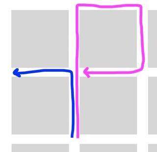 Giro a la izquierda.