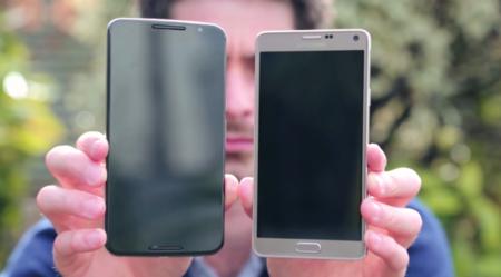 Nexus 6 posa para la cámara junto al Galaxy Note 4