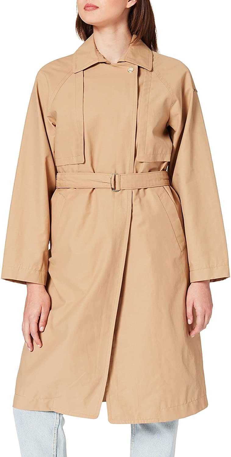 Geox W ROOSE M - POLY COTTON JACKET, Mujer, TAN