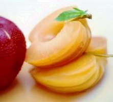 Manzanas en almíbar