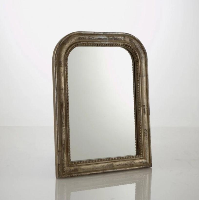 Espejo de estilo, Medio plateado aspecto envejecido