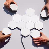 Helios, unos paneles LED hexagonales táctiles con los que crear grandes superficies luminosas