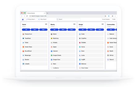 Qlearly, un moderno gestor de pestañas y favoritos para Chrome, Opera y Firefox