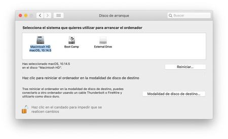 Preferencias De Disco De Arranque Macos