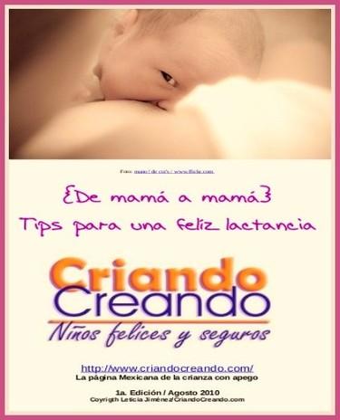 """""""De mamá a mamá"""", e-book gratuito sobre lactancia"""