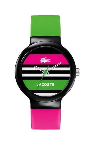 Colección de relojes Lacoste Goa, un reloj sport unisex a todo color