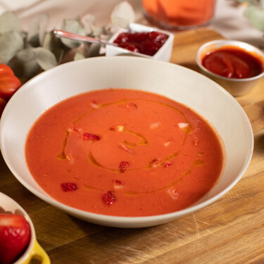 Gazpacho de fresas de Abraham García: receta del legendario plato del restaurante Viridiana