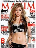 Avril Lavigne muy rockera a la par que clasicona en Maxim