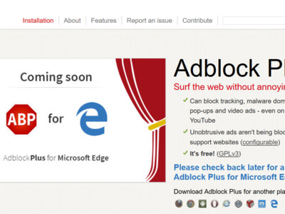 Adblock Plus pronto estará disponible también para Microsoft Edge