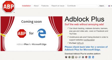 Adblock Plus pronto estará disponible también para Microsoft Edge