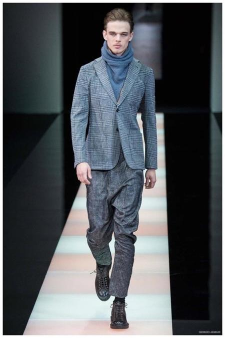 Giorgio Armani Menswear Fall Winter 2015 Collection Milan Fashion Week 009