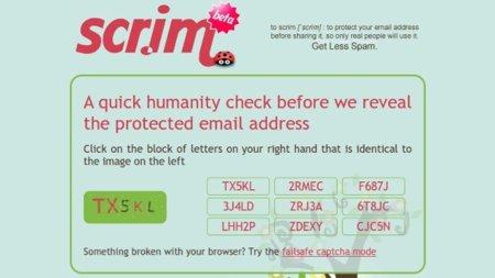 Scr.im: oculta tu dirección de correo tras una prueba de seguridad
