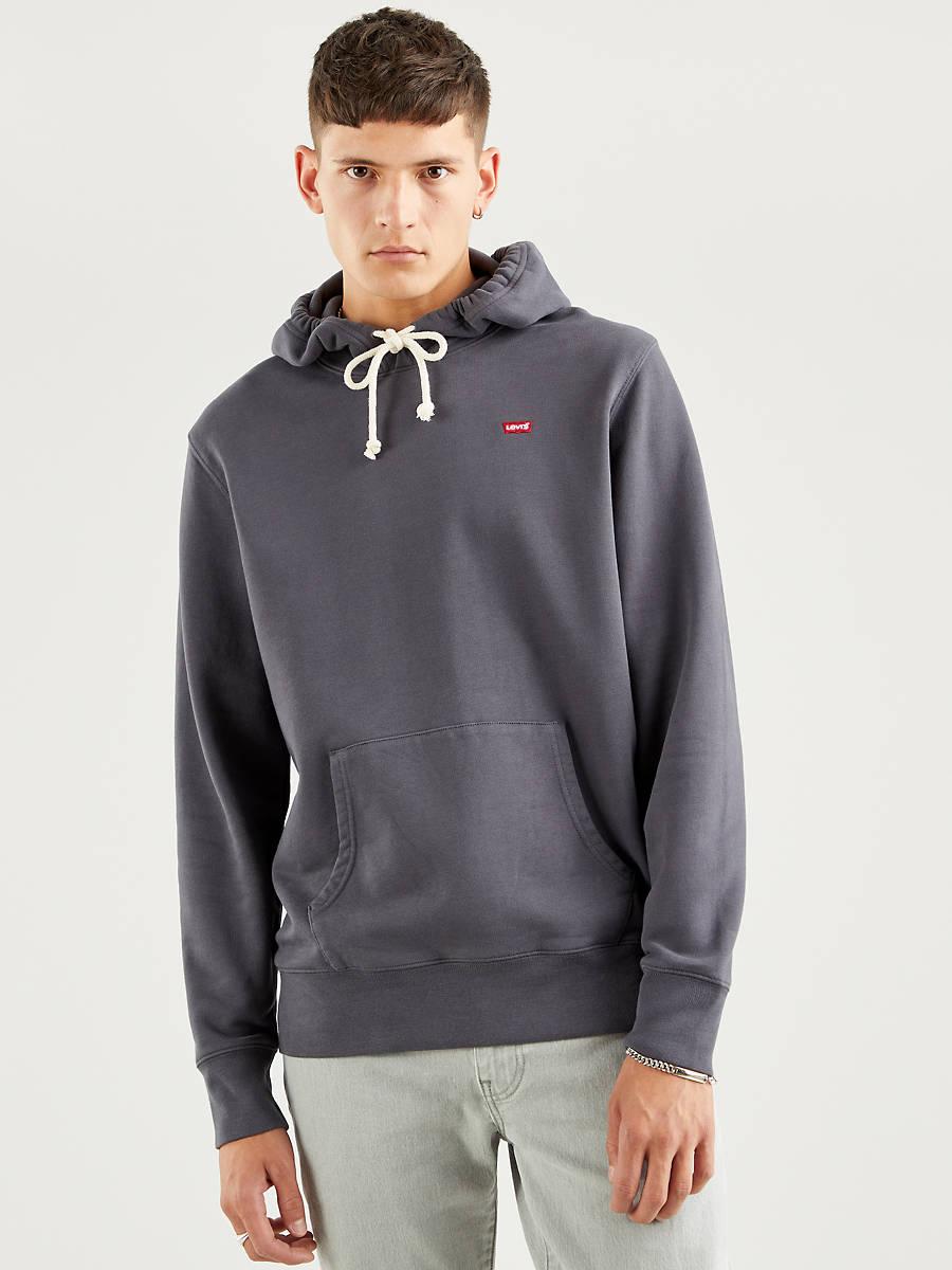 Sudadera gris con capucha