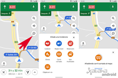 New Incidents Google Maps Android