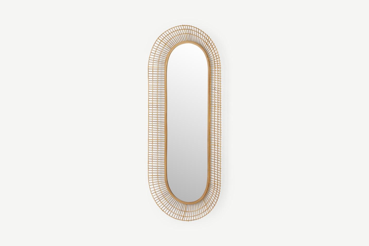Espejo de bambú de cuerpo entero