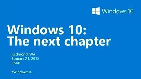 Microsoft confirma el evento sobre Windows 10 del 21 de enero