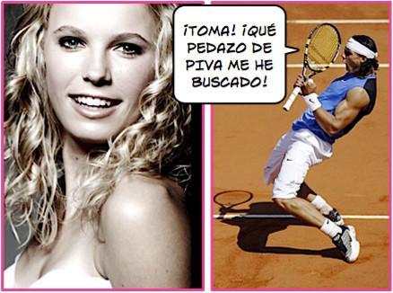 Nadal se echa una novia tenista: Caroline Wozniacki