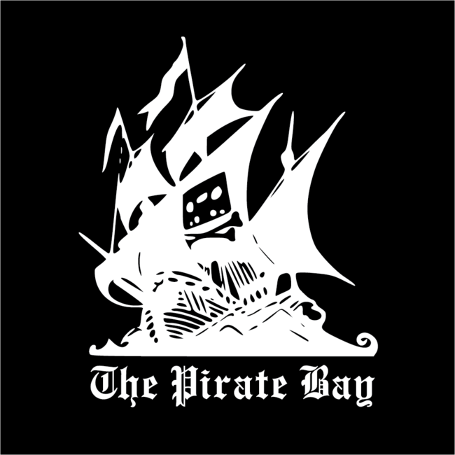 The Pirate Bay White On Black