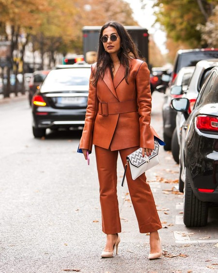 cuero piel street style