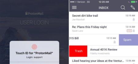 Protonmail se hace todavía más inexpugnable incorporando TouchID