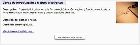 Nuevo curso de formación Online de INTECO sobre la firma electrónica