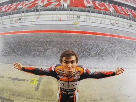 El test oficial de MotoGP previsto hoy, estropeado por la lluvia