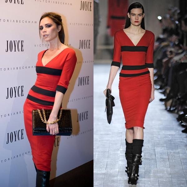 victoria beckham vestido rojo china