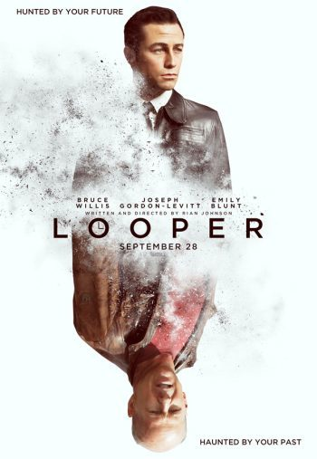'Looper' con Joseph Gordon-Levitt y Bruce Willis, cartel