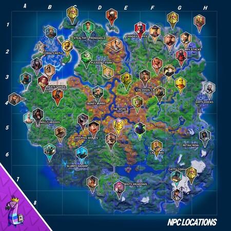 Mapa Personajes
