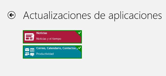 Actualizaciones Apps Windows 8