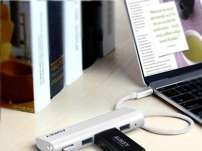 HUB USB Tipo C de 4 puertos Aukey por 11 euros