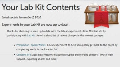 Mozilla Lab kit: varios experimentos para Firefox en un solo paquete