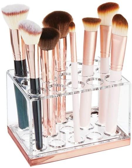 Organizador de brochas y pinceles de maquillaje