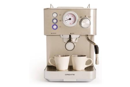 Create Cafetera Thera Classic Cafetera Espress Semiautomatica Para Espresso Y Cappuccinos Presion 20 Bares Capacidad 1 25 L 1100w Vaporizador Orientable Acero Inoxidable