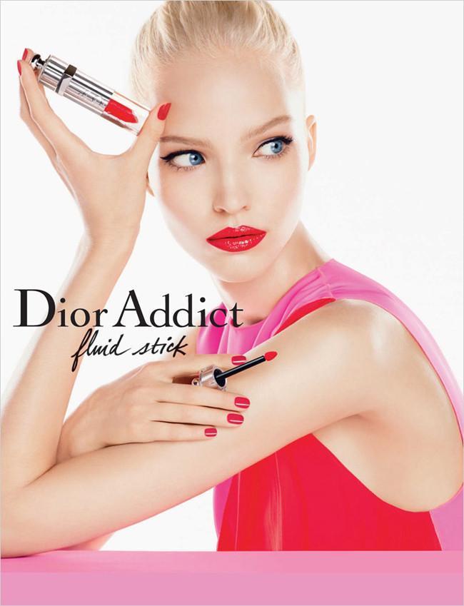 Sasha Luss campaña Dior Addict fluid lipstick 2014