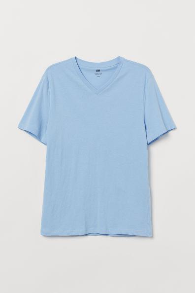 Camiseta en cuello V regular fit